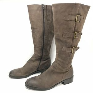 Ecco Hobart Leather 3Buckle Knee High Riding Boots
